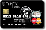 FairFX travel money card