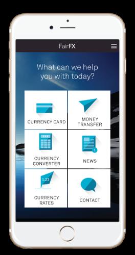 FairFX App on iOS and Android